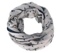logo pattern collar scarf