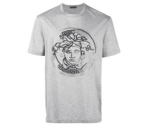 T-Shirt mit Medusa-Stickerei - men - Baumwolle