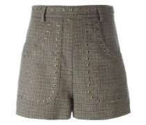Tweed-Shorts mit Nieten