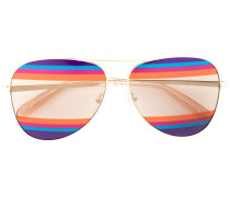 striped lenses aviator sunglasses