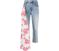 Jeans mit Schal-Detail