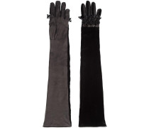 Lange Lederhandschuhe mit Verzierung