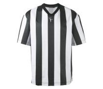 T-Shirt mit breiten Längsstreifen