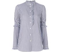 high neck pinstriped shirt