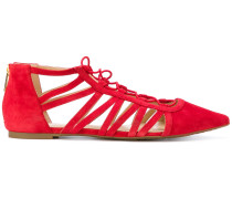 caged pointed ballerinas