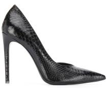 Stiletto-Stiefel mit Schlangen-Effekt