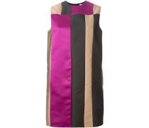 Seidenkleid mit Colour-Block-Optik