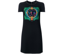 embroidered logo dress