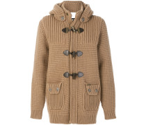 detachable hood knitted jacket