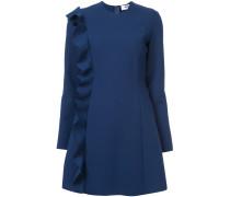 frill detail long-sleeved dress