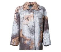Mantel im Metallic-Look
