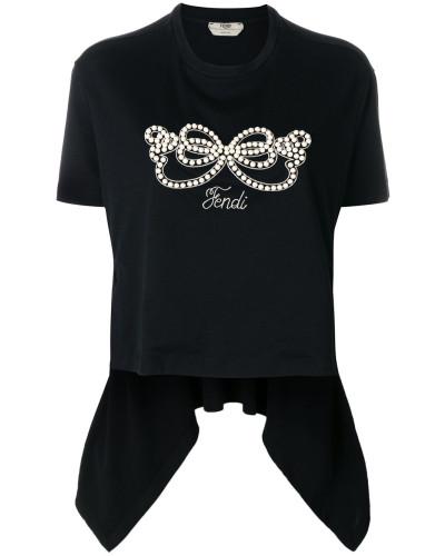 T-Shirt mit zipfeligem Saum