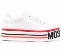 logo-sole platform sneakers