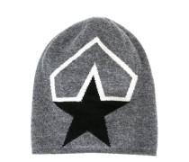 Intarsien-Beanie mit Stern