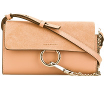 - Blushy Pink Faye chain wallet bag - women