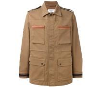 Military-Jacke mit Kontrastbesatz