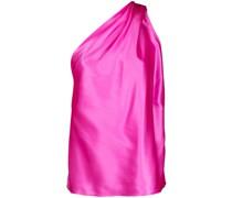 Asymmetrische Bluse mit Drapierung