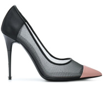contrast pointed pumps