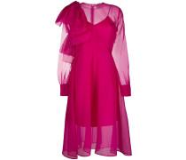A-Linien-Kleid mit Schleife