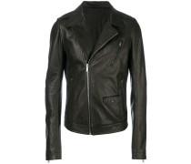 pebbled biker jacket