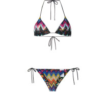 chevron pattern bikini set