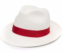 Gewebter Hut mit Zierband