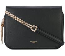 flap chain shoulder bag - women - Leder/metal