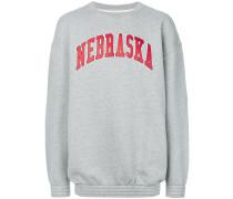 """Sweatshirt mit """"Nebraska""""-Print"""