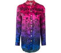Seidenhemd mit Farbverlauf