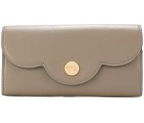 Portemonnaie mit gewelltem Klappdeckel