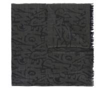 Schal mit Buchstaben-Print