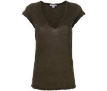 Jersey-T-Shirt mit U-Ausschnitt