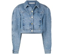 Verzierte Cropped-Jeansjacke