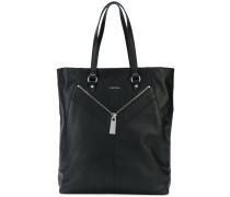 zip-detailed tote bag