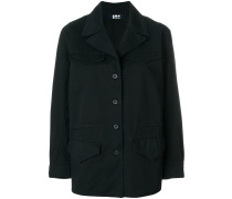 military style buttoned jacket