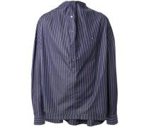Gestreiftes Hemd mit Drapierung