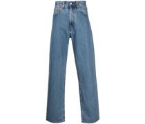 Halbhohe Jeans mit weitem Bein