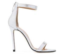 Metallische Sandalen mit Knöchelriemen