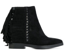 fringed trim boots
