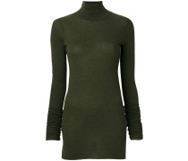 fitted knitted roll-neck top