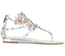 Sandalen mit Kristallverzierungen - women