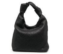 Knots 8 large woven leather tote bag