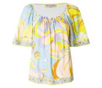 floral shift blouse