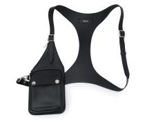 Harness-Tasche mit geknöpftem Fach