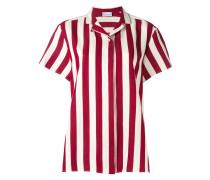 Gestreiftes Hemd mit kurzen Ärmeln - women