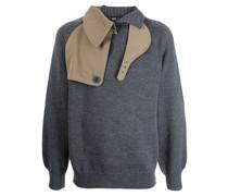 contrast-panel wool jumper