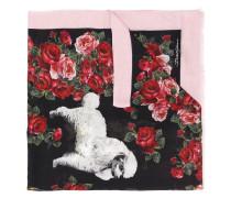 Schal mit Hunde-Print