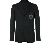 crest patch blazer