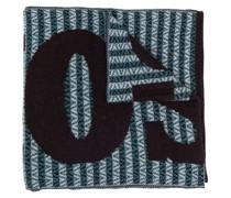 Intarsien-Schal mit Zickzackmuster