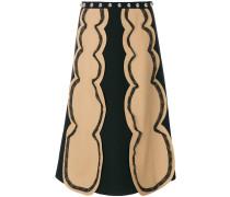 embroidered midi skirt